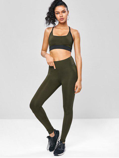 Kreuze  und Quere  Trainieren-Yoga -Anzüge - Armeegrün S Mobile