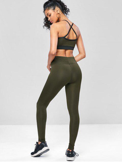 Kreuze  und Quere  Trainieren-Yoga -Anzüge - Armeegrün L Mobile