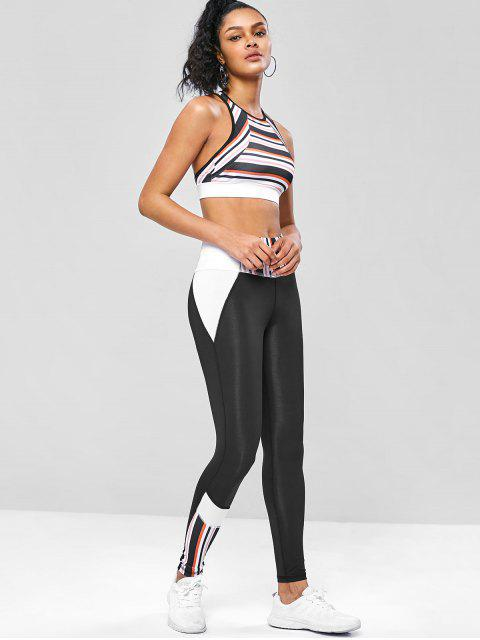 Gestreifte Aushöhlende Yoga-Gymnastik-Anzüge - Multi M Mobile