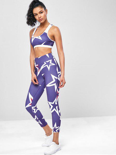 Racerback-Sterndruck-Gymnastik-Yoga-Anzüge - Lila Selbei M Mobile