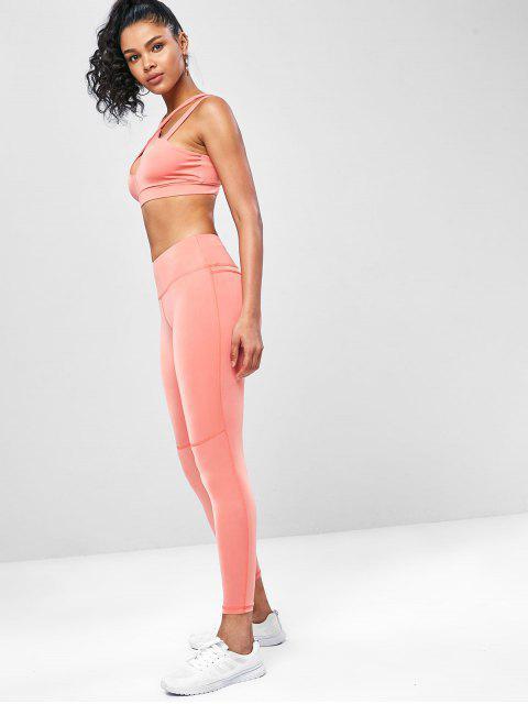 Kreuze  Schlüsselloch- Trainieren- Yoga- Anzüge - Basketball Orange S Mobile