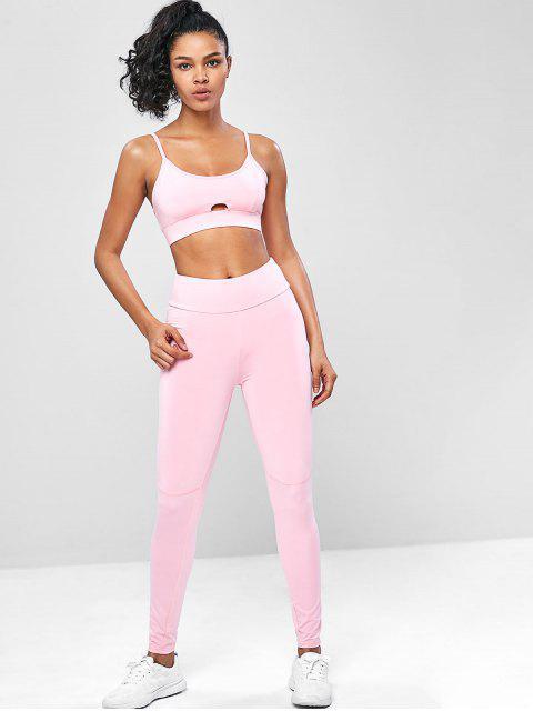 High Rise Cami Yoga Gimnasio trajes - Rosado S Mobile