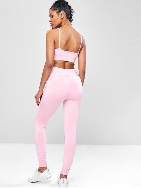 Kami -Yoga -Gymnastikanzüge mit Hoher Taille - Rosa L Mobile
