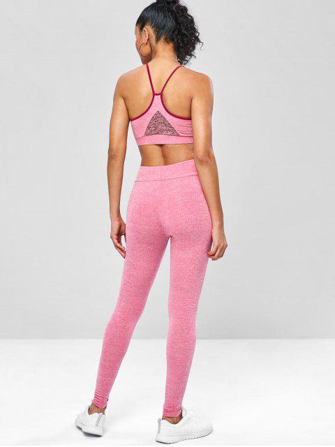 Gym -Yoga- Kami -Top und Gamaschen- Anzug - Erröten Rot M Mobile