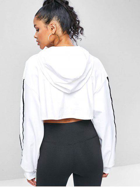 Kapuzenpullover mit Reißverschluss und Offener Brust - Weiß M Mobile