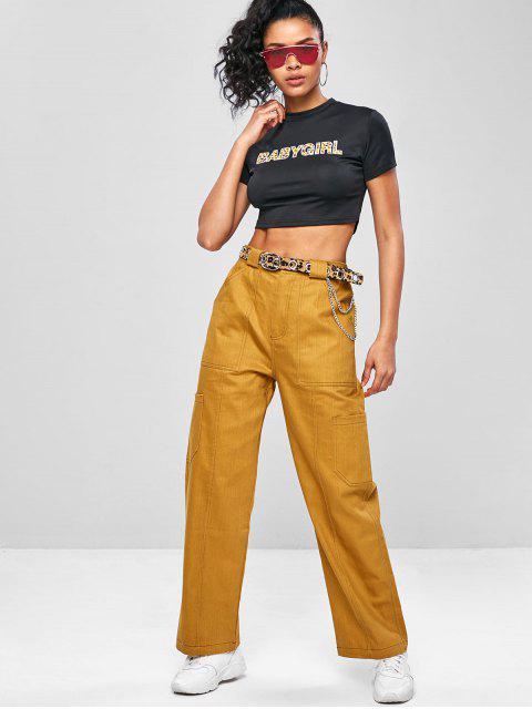 Ernte -Kleine Graphik- Gym- T-Shirt - Schwarz L Mobile