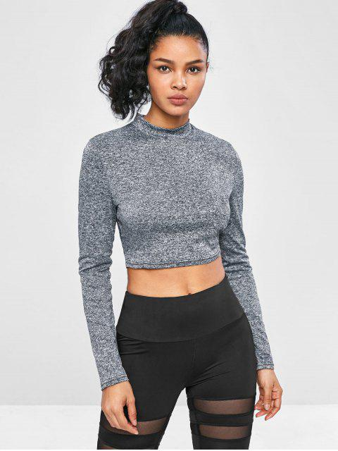 Camiseta deportiva recortada Space Dye Crop - Multi-J M Mobile