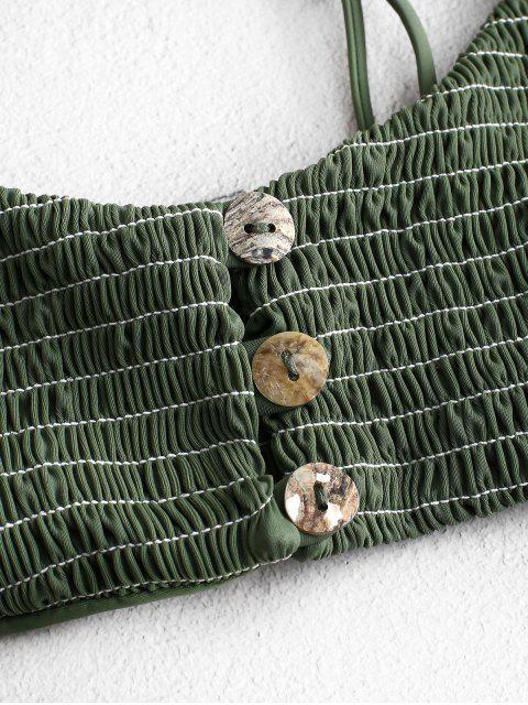 ZAFUL Ensemble de Bikini Croisé Plissé - Vert Camouflage S Mobile