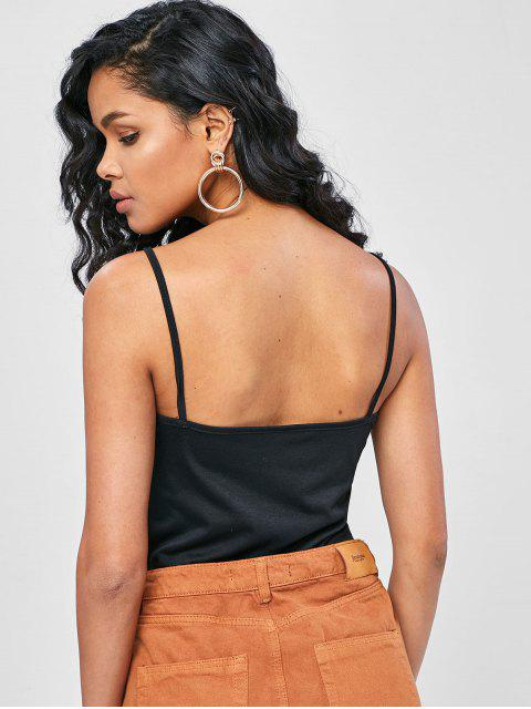 trendy Lace Insert Camisole - BLACK L Mobile
