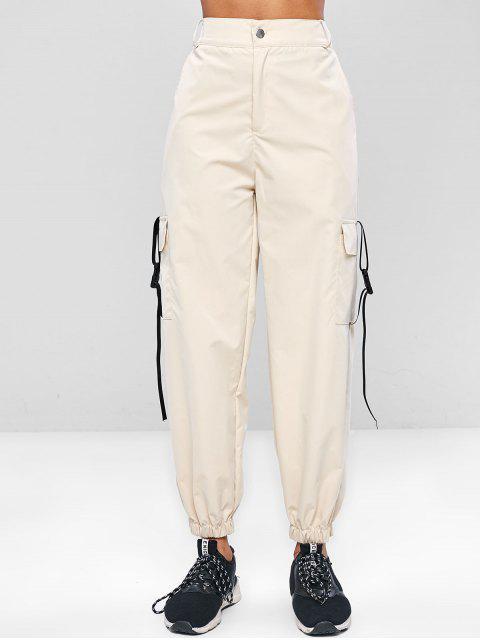 ZAFUL Zipper cargo pantalones - Blanco Antiguo S Mobile