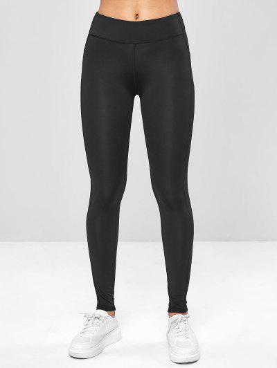Ninth Pocket Workout Yoga Leggings - Black Xl