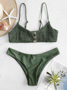 cbffa6c906767b 23% OFF   POPULAR  2019 ZAFUL Shirred Cami Bralette Bikini Set In ...
