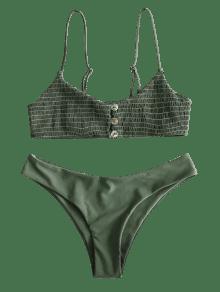 bd60b1b0686 23% OFF   POPULAR  2019 ZAFUL Shirred Cami Bralette Bikini Set In ...