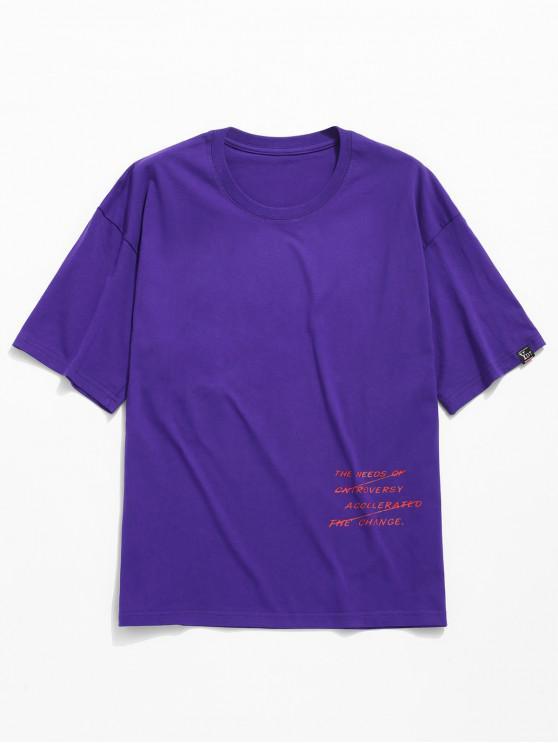 T-shirt legal da cópia gráfica - Roxa L