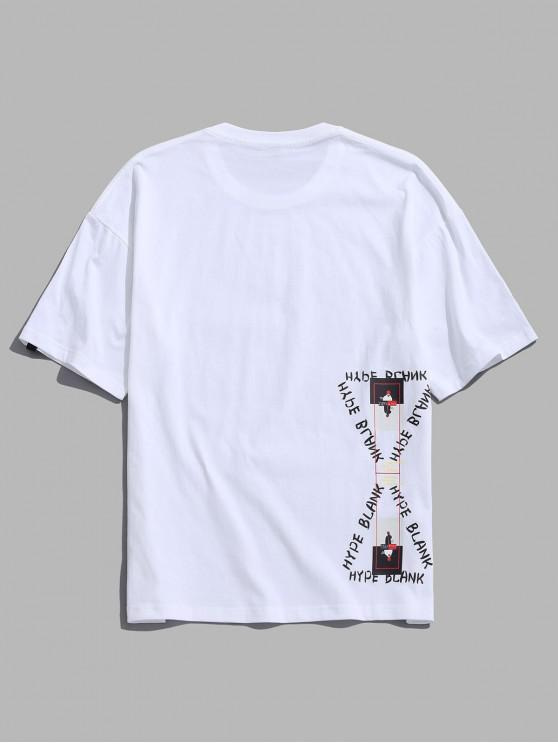 best Graphic Print Short Sleeve Tee - WHITE M