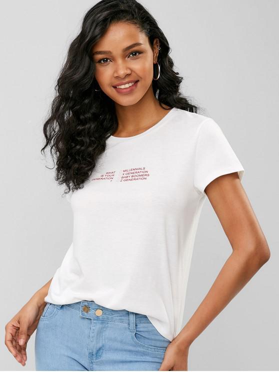 Qual è la tua T-shirt grafica di generazione - Bianca XL