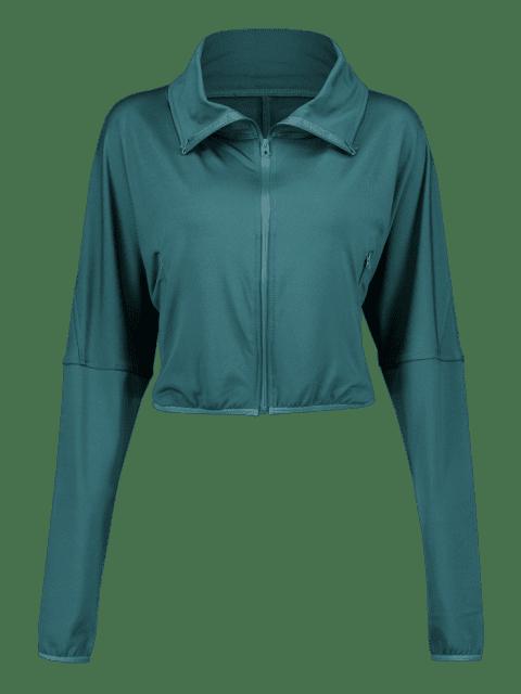 Postleitzahl-Schulter-Gymnastik-Jacke - Pfauenblau XL Mobile