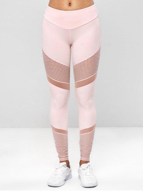Mallas perforadas de yoga para gimnasio - Rosa Naranja S Mobile