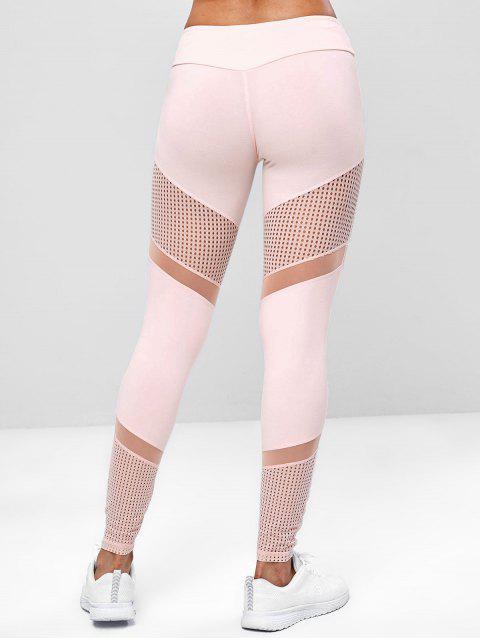 Mallas perforadas de yoga para gimnasio - Rosa Naranja L Mobile