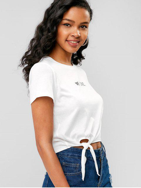 Self-tie Me One Graphic Tee - Blanco S Mobile