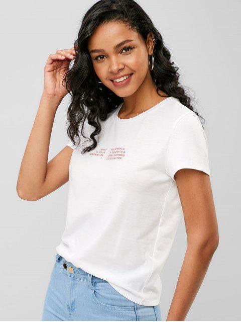 ¿Cuál es tu camiseta gráfica de generación? - Blanco XL Mobile