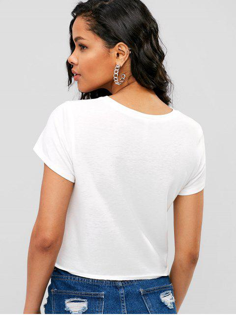 Self-tie Me One Graphic Tee - Blanco M Mobile
