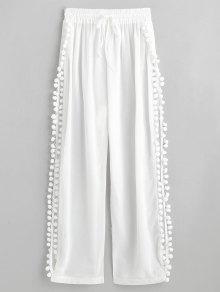 الشق بوم بوم شير السراويل الشاطئ - أبيض S