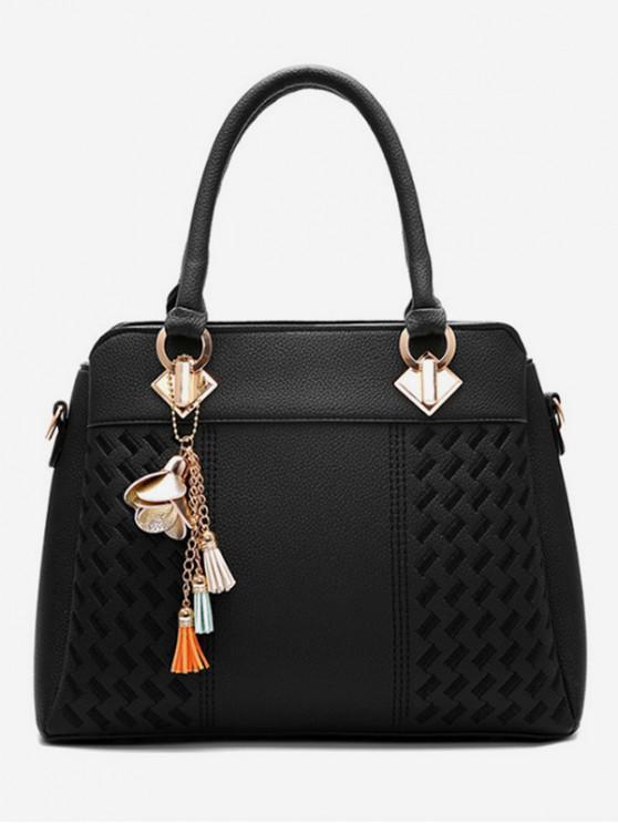 45550f36133be حقيبة يد للنساء مصنوع من جلد PU - أسود