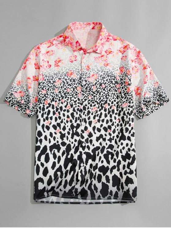 e2d4b93c6511a 28% OFF  2019 Flower Leopard Print Shirt In LEOPARD