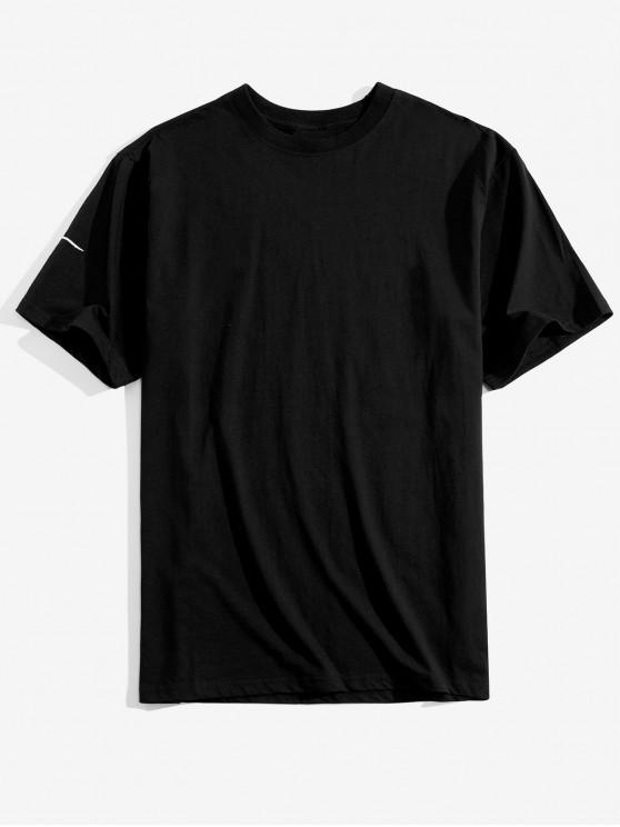 T-shirt con motivo a stelle - Nero S