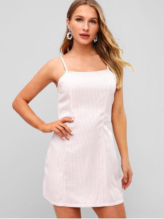women ZAFUL Striped Cami Bodycon Dress - LIGHT PINK L