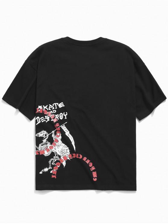 T-shirt Cool Lettre Imprimée - Noir M