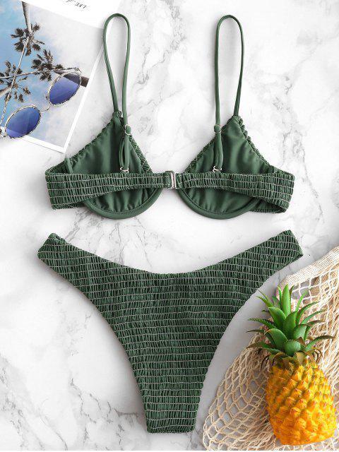 ZAFUL Set de Bikini con Aros - Verde Camuflaje M Mobile