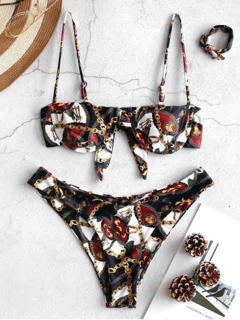 ZAFUL Bikini Chaîne Imprimée à Armature - Multi-A L Mobile