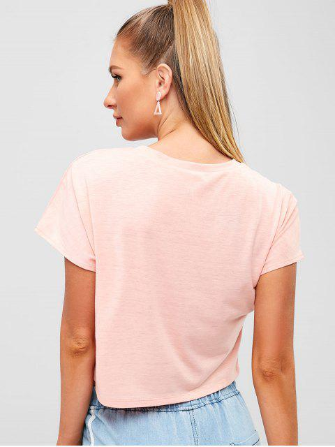Camiseta con gráfico de globo - Rosado S Mobile