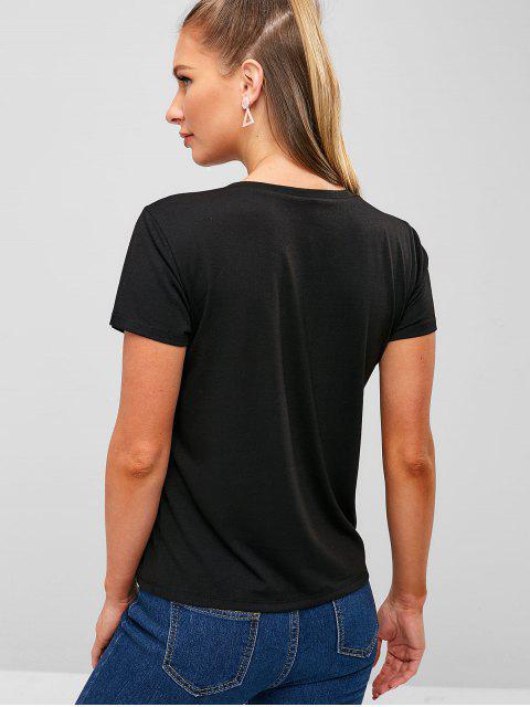 Camiseta Gráfica Cloud - Negro S Mobile