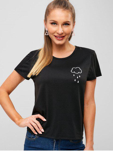 Camiseta Gráfica Cloud - Negro L Mobile