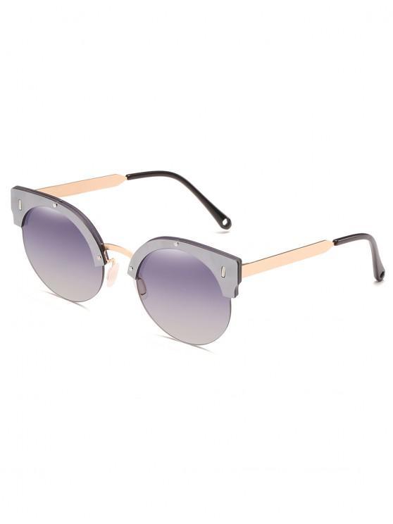 72ef383277 4% OFF] 2019 Gafas De Sol Semi-sin Montura Con Lentes Redondas UV En ...