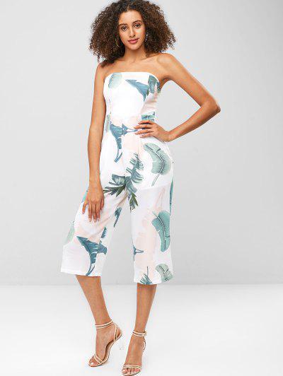 fb6875a7b856 Palm Padded Capri Bandeau Jumpsuit - White - White M