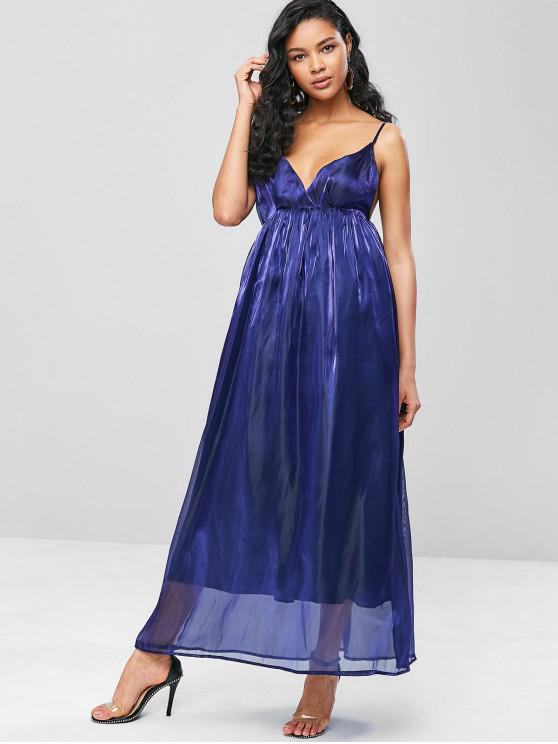 outfits Cami Shimmery Maxi Dress - NAVY BLUE M
