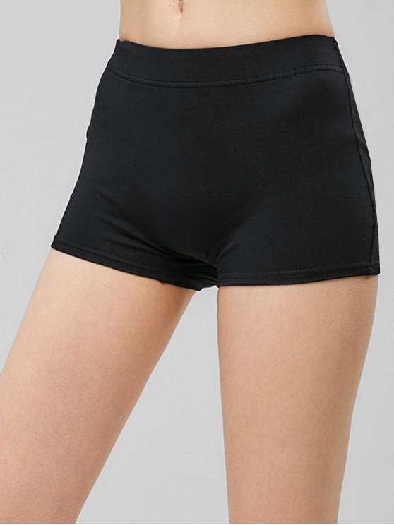 chic Mini Skinny Shorts - BLACK M