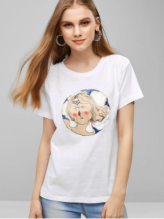 shops Short Sleeve Character Graphic Tee - MILK WHITE XL