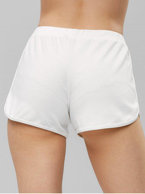 buy Ribbed Dolphin Shorts - WHITE S Mobile