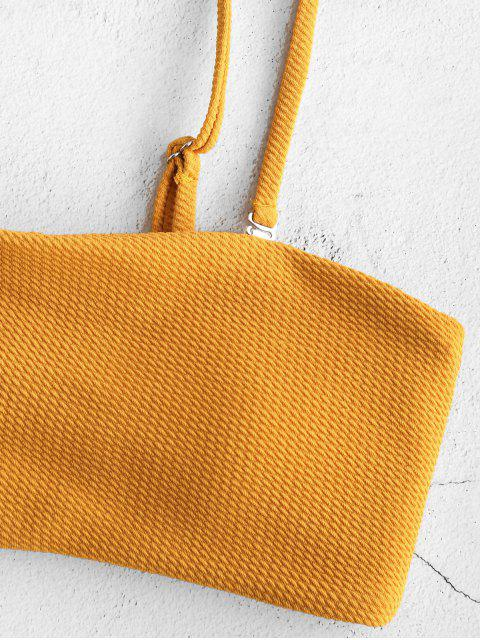ZAFUL Текстурированное Бикини в сборе Бандо - Пчела-желтый M Mobile