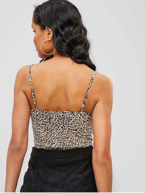 best Leopard Snakeskin Fitted Camisole - LEOPARD S Mobile