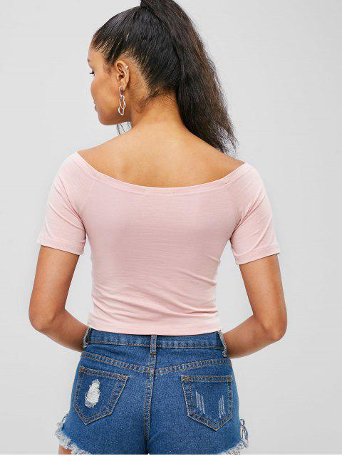 Crop Cross Top - Rosado L Mobile
