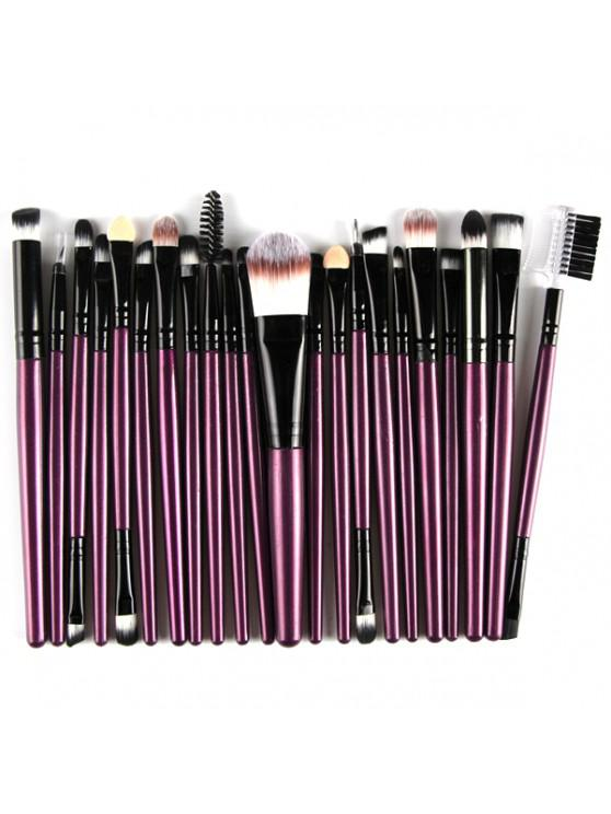 trendy 22 Pcs Nylon Eye Lip Makeup Brushes Set - PURPLE