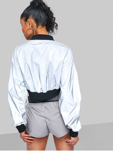 Reflektierende Jacke mit Reißverschluss - Silber M Mobile