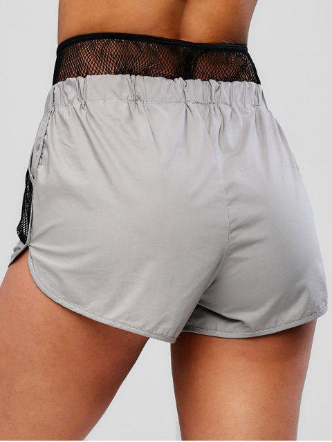 Gymnastik-Hose mit Taschen aus Netzsegmenten - Dunkelgrau M Mobile