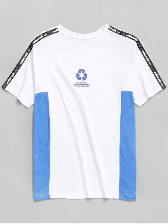 new Logo Printed Raglan Sleeve T-shirt - WHITE 2XL